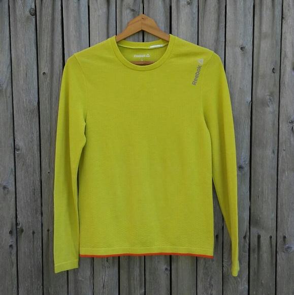 vakaa laatu erinomainen laatu hyvä laatu Reebok lemon lime dryfit stretch shirt / top